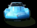 Blue vintage car - Front - Bev Dunbar Maths Matters