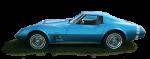 Blue vintage car - Side - Bev Dunbar Maths Matters