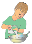 Boy Cooking - John Duffield duffield-design