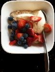 Porridge Yoghurt Fruit - Breakfast - Time - Bev Dunbar Maths Matters