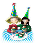 Birthday Party Cake Girls - John Duffield duffield-design
