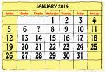 Calendar Grid - January 2014- John Duffield duffield-design