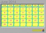 Calendar June 2014 - John Duffield duffield-design