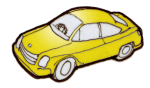 1 yellow car - place value