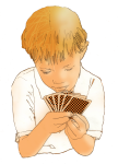 Chance - Boy playing cards - John Duffield duffield-design