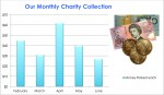 Charity Collection Column Graph