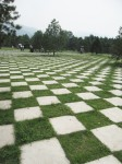 Checkerboard Pattern Paving China Bev Dunbar Maths Matters