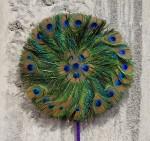 Circular Peacock Feather Fan Bali Bev Dunbar Maths Matters