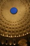 Circular oculus in Pantheon Ceiling Rome Bev Dunbar Maths Matters
