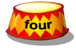 Circus Podium - four - place value