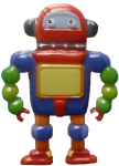 Colourful robot - toys - Bev Dunbar Maths Matters