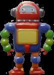 Colourful robot - toys - Bev Dunbar Maths Matters