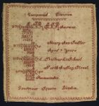 Compound Division Sampler Mary Ann Sadler London mid 19th Centur