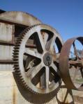 Cylindrical wheels Gold Mine Kalgoolie WA Bev Dunbar Maths Matters