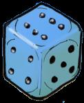 Dice 1 Blue - John Duffield duffield-design