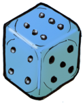 Dice 1 Blue - John Duffield duffield-design