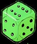Dice 1 Green - John Duffield duffield-design