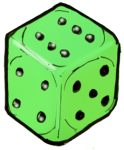 Dice 1 Green - John Duffield duffield-design