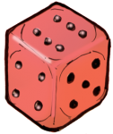 Dice 1 Red - John Duffield duffield-design