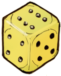 Dice 1 yellow - John Duffield duffield-design