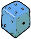 Dice 2 Blue - John Duffield duffield-design