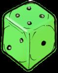 Dice 2 Green - John Duffield duffield-design