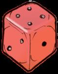 Dice 2 Red - John Duffield duffield-design