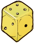 Dice 2 yellow - John Duffield duffield-design