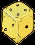 Dice 2 yellow - John Duffield duffield-design