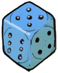 Dice 3 Blue - John Duffield duffield-design