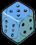 Dice 3 Blue - John Duffield duffield-design