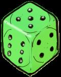 Dice 3 Green - John Duffield duffield-design