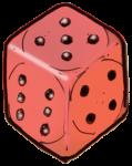 Dice 3 Red - John Duffield duffield-design