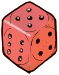 Dice 3 Red - John Duffield duffield-design