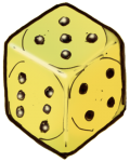 Dice 3 yellow - John Duffield duffield-design
