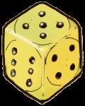 Dice 3 yellow - John Duffield duffield-design