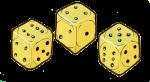 Dice yellow - John Duffield duffield-design