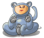 Dressup Bear - Blue - John Duffield duffield-design