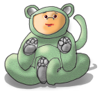 Dressup Bear - Green - John Duffield duffield-design
