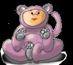 Dressup Bear - Pink - John Duffield duffield-design