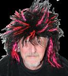 Duffy in black pink wig Bev Dunbar Maths Matters
