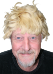 Duffy in blonde wig Bev Dunbar Maths Matters