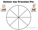 Eighths Colour my Fraction Pie Bev Dunbar Maths Matters