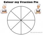 Eighths Colour my Fraction Pie Bev Dunbar Maths Matters