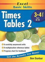 Excel Times Tables 2 Front Cover