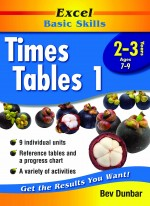 Excel Times Tables 1 Front Cover