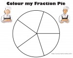 Fifths Colour my Fraction Pie Bev Dunbar Maths Matters