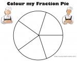 Fifths Colour my Fraction Pie Bev Dunbar Maths Matters