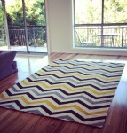 Floor rug - zigzag - 2D Shapes Bev Dunbar Maths Matters