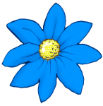 Flower - Blue- John Duffield duffield-design